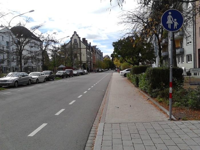 Petershauserstraße Richtung Süden