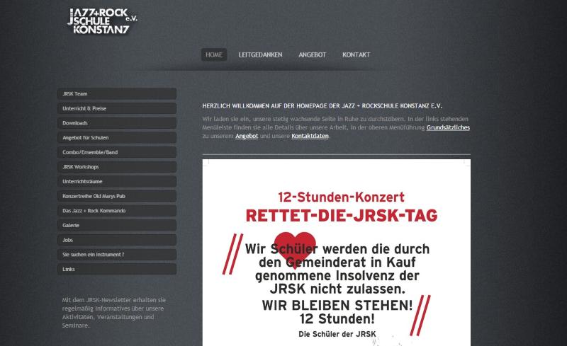 Screenshot Jazz- und Rockschule Konstanz