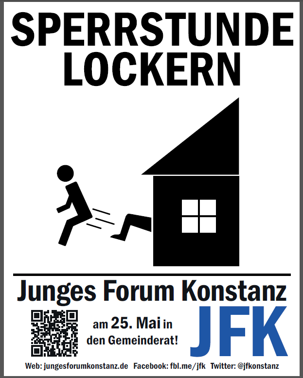 sperrstunde lockern plakat
