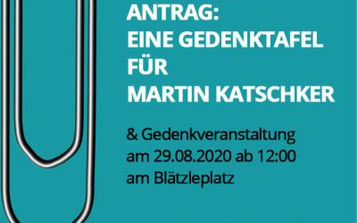 Gedenktafel für Martin Katscher